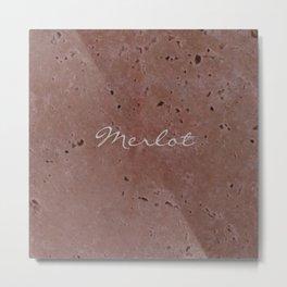 Merlot Wine Red Travertine - Rustic - Rustic Glam Metal Print