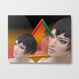 make up your mind Metal Print