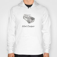mini cooper Hoodies featuring Mini Cooper by CARZINART