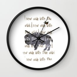 Walk into the Wild Wall Clock