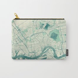 Rotterdam Map Blue Vintage Carry-All Pouch