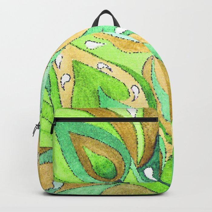 Mosaic . A feather of the Zhar bird . Backpack