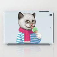 ice cream iPad Cases featuring Ice cream by Tummeow