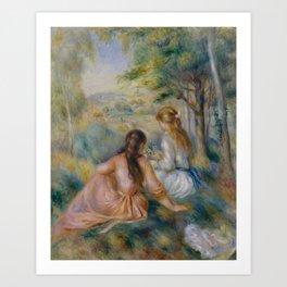 """Pierre-Auguste Renoir """"In the Meadow"""" Art Print"""