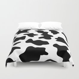 black and white ranch farm animal cowhide western country cow print Duvet Cover
