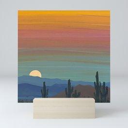 Arizona Moonrise Mini Art Print