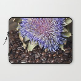 Fresh Coffee Beans & Blue Artichoke Laptop Sleeve