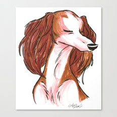 Brush Breeds-Saluki Canvas Print