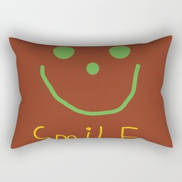 keep smiling  Rectangular Pillow