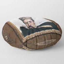Paul Cezanne - L'avocat (l'oncle Dominique) Floor Pillow