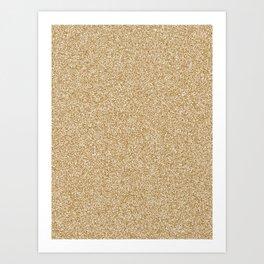 Melange - White and Golden Brown Art Print