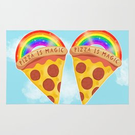 Pizza Is Magic Rug