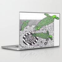 turtles Laptop & iPad Skins featuring Turtles by Kandus Johnson