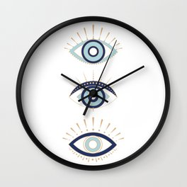 3 eyes on you Wall Clock