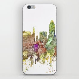 Lincoln, Nebraska Skyline - Faded Glory iPhone Skin