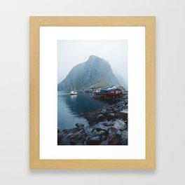Foggy Morning in Reine, Lofoten Framed Art Print