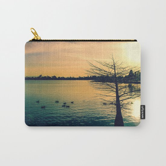Going Home (Winter Lake at Dusk) Carry-All Pouch