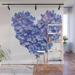Hydrangea Je t'aime Wall Mural