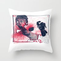hockey Throw Pillows featuring Hockey! by Dushan Milic