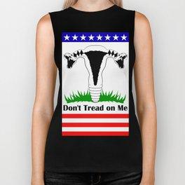 Don't Tread on Me Flag - White BG Biker Tank