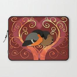 Valentine Bullfinches Laptop Sleeve