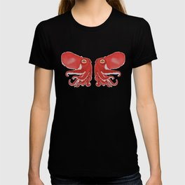 Red squid confrontation T-shirt