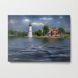 Rock Island Light - Clayton, NY Metal Print
