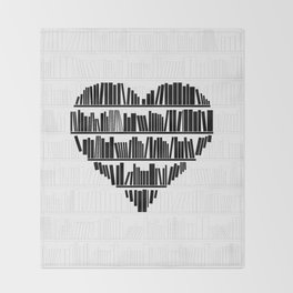 Book Lover II Throw Blanket