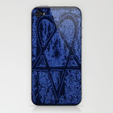 Nightfall Blue Heartagram iPhone & iPod Skin