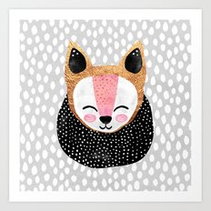 Little Arctic Fox Art Print