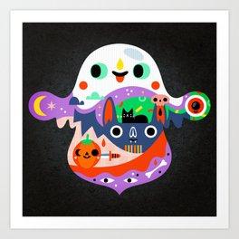 Spooky Halloween Art Print