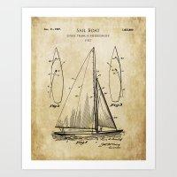 1927 Design for a Sail Boat Art Print