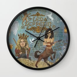 Zeppelin - In Days Of Old When Magic Filled The Air Wall Clock