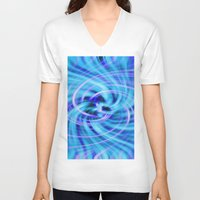 pivot V-neck T-shirts featuring Blue twirl by AvHeertum