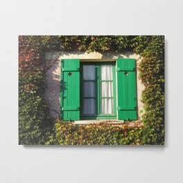 Monets Town Window Metal Print