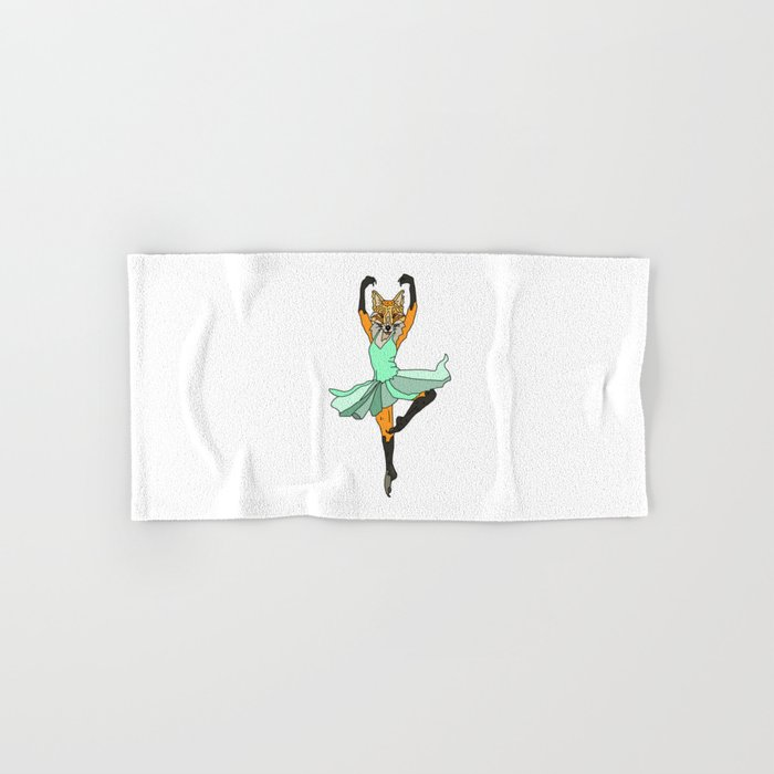 Fox Ballerina Tutu Hand & Bath Towel