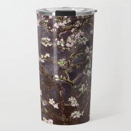 Vincent Van Gogh Almond Blossoms dark gray slate Travel Mug