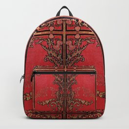 Red and Gold Thistles Backpack