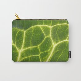 Abstract Leaf Vein macro Carry-All Pouch