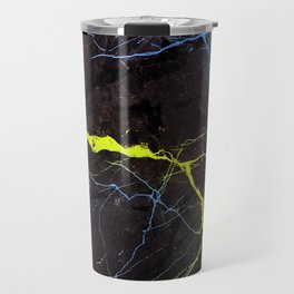 Beyond Gold and Blue Marble Travel Mug
