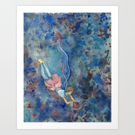 Readers Blue Art Print