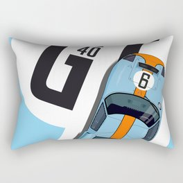 GT40 Le Mans 1968 Rodriguez-Bianchi Rectangular Pillow