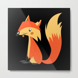 Fox Fox Fox Lover Metal Print