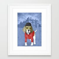 beagle Framed Art Prints featuring Beagle by Barruf