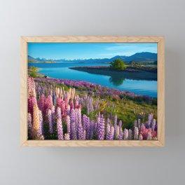 Lake Tekapo, New Zealand Framed Mini Art Print