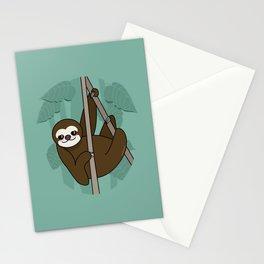 Kawaii sloth Stationery Cards