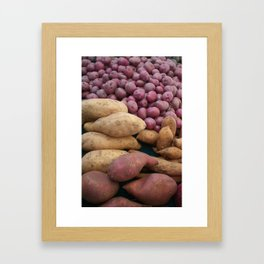 Farmer's Market Sweet Potatoes Framed Art Print
