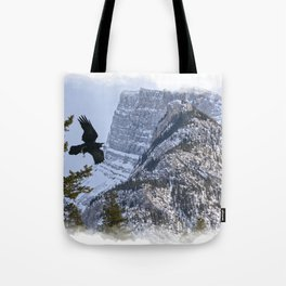 Mt Rundle & Raven (Canadian Rockies) Tote Bag