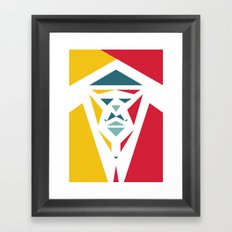 Five Triangle Faces - The Entertainer Framed Art Print