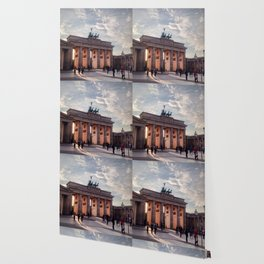 Brandenburg Gate in the Evening Wallpaper